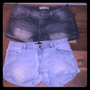 Jean Short Bundle of 2! Light and Med Wash!